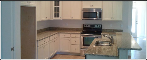 Kitchen in one of our new homes in Jacksonville FL